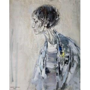 Maciej Lachur (1927 Zagórze – 2007 Otwock) - Portret kobiety, 1984 r.