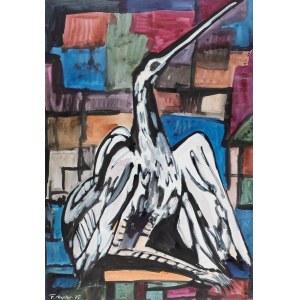 Fryderyk Antoni Hayder (1905 Przemyśl - 1990 Gliwice) - Ptak, 1975 r.