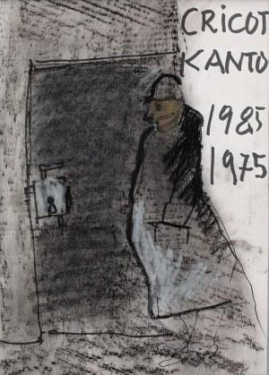 """Tadeusz Kantor (1915 Wielopole Skrzyńskie-1990 Kraków), Projekt plakatu """"Umarła klasa"""" na dziesięciolecie spektaklu, 1985 r."""