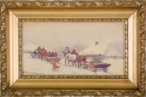 Adam SETKOWICZ (1876-1945), Zimowa podróż saniami