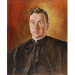 Zygmunt NARKIEWICZ (1889-1988), Portret księdza Stanisława Witkowskiego, 1947