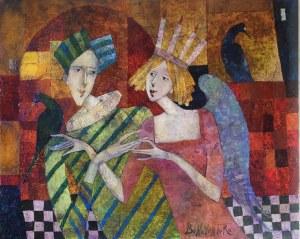 Jan Bonawentura Ostrowski (ur. 1946, Częstochowa), Spotkanie z aniołem, 2020