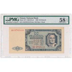 20 złotych 1948 - AN - PMG 58 EPQ