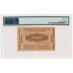 Kowno 1/2 marki 1918 - B - PMG 64