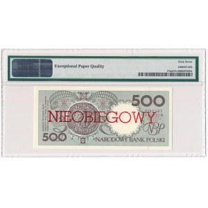 500 złotych 1990 - E - NIEOBIEGOWY - PMG 67 EPQ