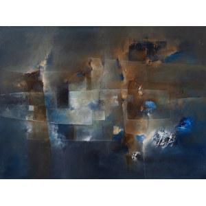 Nina Zielińska-Krudysz, Abstrakcja z rdzawym niebem, 2020