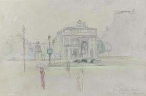 Jan CYBIS (1897-1972), Łuk Triumfalny na Place du Carrousel w Paryżu, 1947