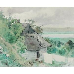 Maciej NEHRING (1901-1977), Pejzaż z chatą, 1950