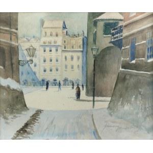 Franciszek SUNDERLAND (1 poł. XX w.), Stare Miasto w Warszawie, 1928