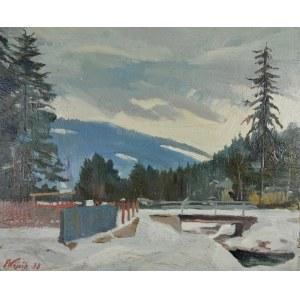 Franciszek WÓJCIK (1903-1984), Pejzaż górski ze strumieniem, 1938