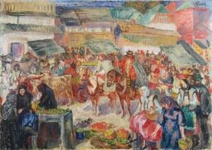 Fryderyk PAUTSCH (1877-1950), Targ huculski, ok. 1920