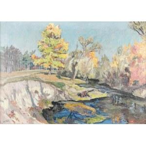 Józef JAROSZ (1890-1966), Krajobraz jesienny z Zalesia Dolnego, 1953
