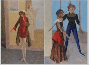 Bencion  RABINOWICZ [BENN] (1905-1989), Aktorzy teatru - para obrazów