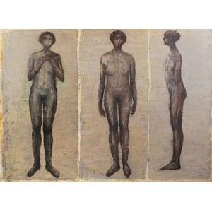 JAROSŁAW KAWIORSKI (UR. 1955), Trzy stojące postaci, 2002
