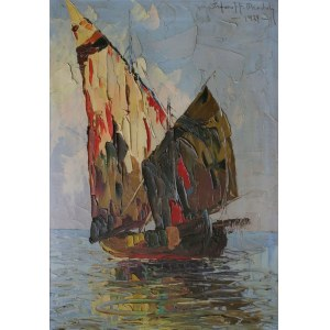 Grzegorz Stefanoff Mendoly (1898-1966) Łódź na morzu