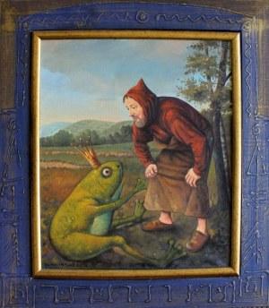 Dariusz Miliński (ur.1957) Autoportret z królewiczem zaklętym w żabę