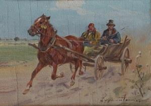 Ignacy Zygmuntowicz (1875-1946/47) Pędzący zaprzęg