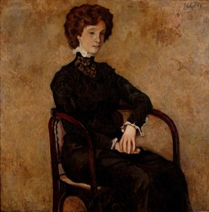 Kazimierz Sichulski (1879 Lwów - 1942 Lwów), Portret młodej kobiety, 1909
