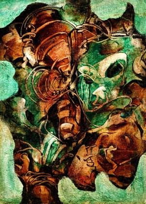 Alfred Lenica (1899 Pabianice - 1977 Warszawa), Kompozycja abstrakcyjna