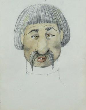 Kazimierz Mikulski (1918-1998), Zezowaty wąsacz - Projekt kostiumu do przedstawienia