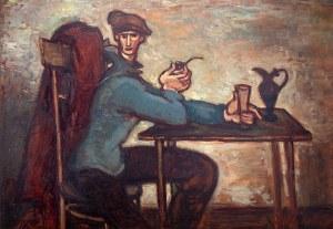 Stanisław Eleszkiewicz (1900 Czutowo k. Połtawy - 1963 Paryż), Mężczyzna z fajką
