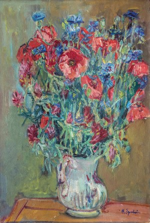 Henryk Epstein (1891 Łódź - 1944 Auschwitz), Kwiaty w wazonie