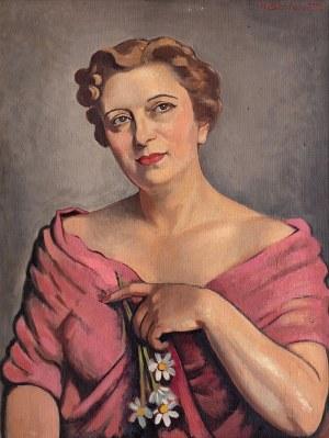 Henryk Berlewi (1894 Warszawa - 1967 Paryż), Portret kobiety, 1952