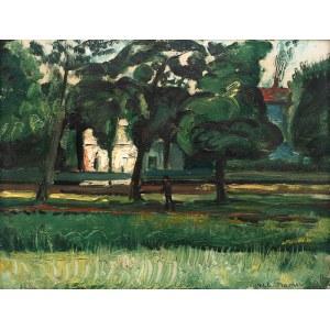 Nathan Grunsweigh (1883 Kraków - ok. 1966/1970), Domy pośród drzew, 1922 r.
