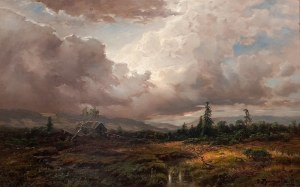 Désiré Thomassin (1858 Wiedeń - 1933 Monachium), Krajobraz przed burzą, 1919 r.