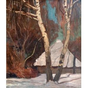 Henryk Szczygliński (1881 Łodź - 1944 Warszawa), Pejzaż zimowy z Tyńca