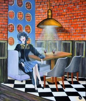 Magdalena Zalewska, W kawiarni