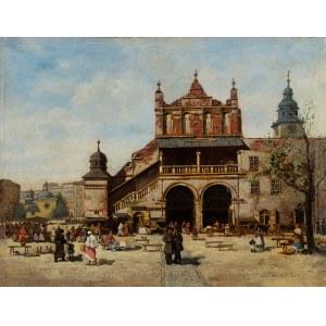 Seweryn Bieszczad (1852 Jasło -1923 Krosno), Sukiennice Krakowskie przed restaracyą, 1885 r.