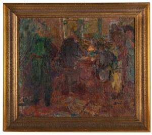 Eugeniusz Eibisch (1896 Lublin - 1987 Warszawa), W kawiarni