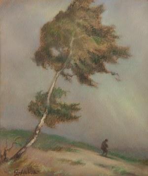 Wacław Żaboklicki (Zaboklicki) (1879 Zakrzew-1959 Warszawa), Pejzaż z drzewem