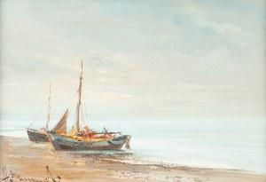 Henryk Baranowski (1932 Starogard Gdański - 2005 Gdynia), Łodzie rybackie, ok. 1980 r.