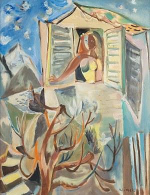 Ludwik Klimek (1912 Skoczów - 1992 Nicea), Dziewczyna patrząca z okna