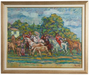 Edmund Burke (1912-1999), Pejzaż z końmi, 1976/77 r.
