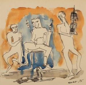 Otto Axer (1906 Przemyśl-1983 Warszawa), Scena rodzajowa, 1975 r.