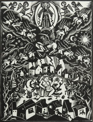 Bogna Krasnodębska-Gardowska (1900 Sosnowiec-1986 Kraków), Król królów i Wielka Nierządnica [Babilonia], 1925