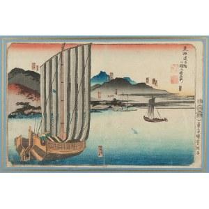Utagawa Kuniyoshi (1797-1861), Stations Maisaka to Goyu, XX w.