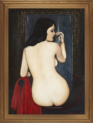 Henryk Berlewi (1894-1967), Kobieta przed lustrem, 1947