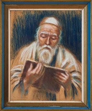 Artur Markowicz (1872-1934), Żyd nad księgą, 1920.