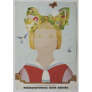 Plakat - Międzynarodowy dzień dziecka - Maciej URBANIEC (1925-2004) - projektant