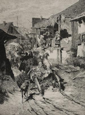 Józef BRANDT (1841-1915), Ulica w Chocimiu