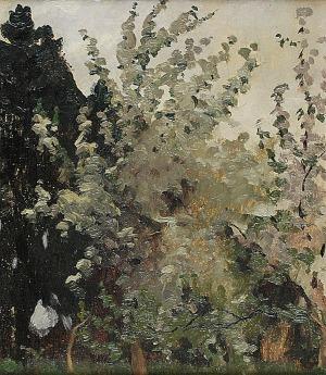 Ferdynand RUSZCZYC (1870-1936), Kwitnące jabłonie, 1901