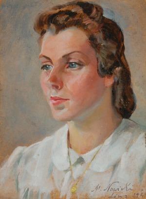 Marian NOWICKI (1904-po1939), Biała bluzka, 1945