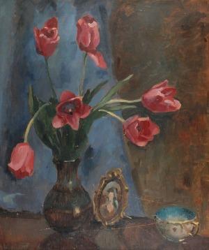 Mieczysław ORACKI-SERWIN (1912-1977), Martwa natura z kwiatami, 1940