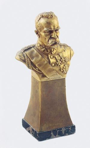 Witold BIELIŃSKI (1879-1944), Popiersie Marszałka Józefa Piłsudskiego