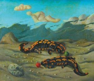 Henryk WANIEK (ur.1942), Salamandry, 1971