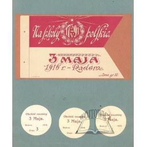 NA SZKOŁY Polskie 3 V. 1791; 3 maja 1916 r. Radom.